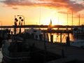 Sunset at the fishermen's harbour
